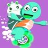 跳跳龟吃苹果-宝宝卡丁车龟兔童话故事