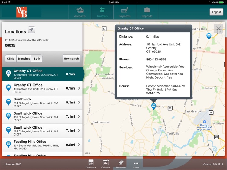 Westfield Bank for iPad screenshot-4