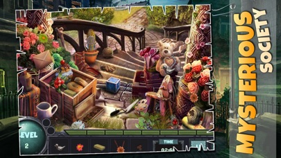 Mysterious Society : Crime scene hidden object features game screenshot two
