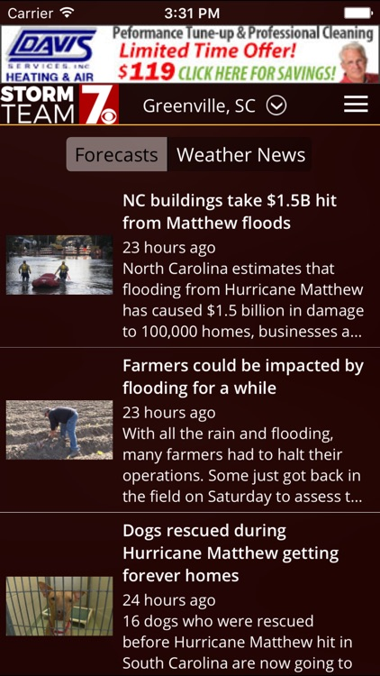 WSPA Weather - Radar and forecasts