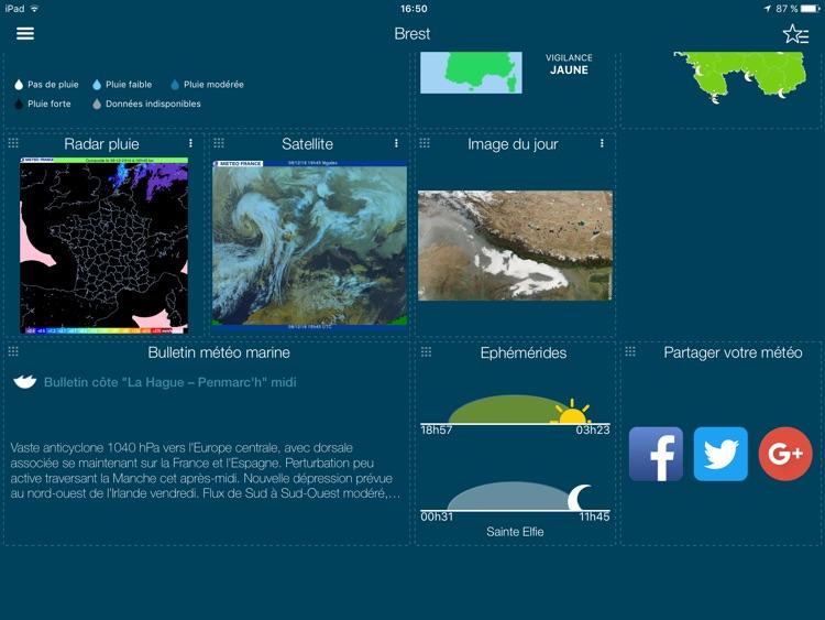 Météo-France pour iPad