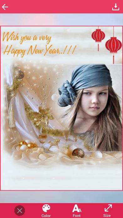 Happy New Year Photo Frame screenshot four