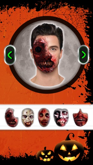 Zombie Face Makeup Horror Booth - Picture Frame.s 9+