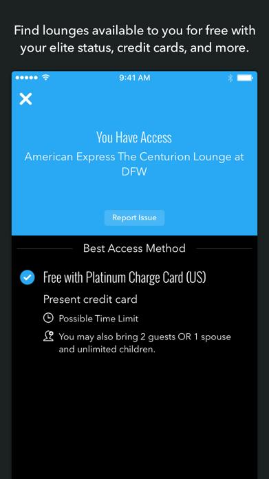LoungeBuddy Lounge Access Screenshot