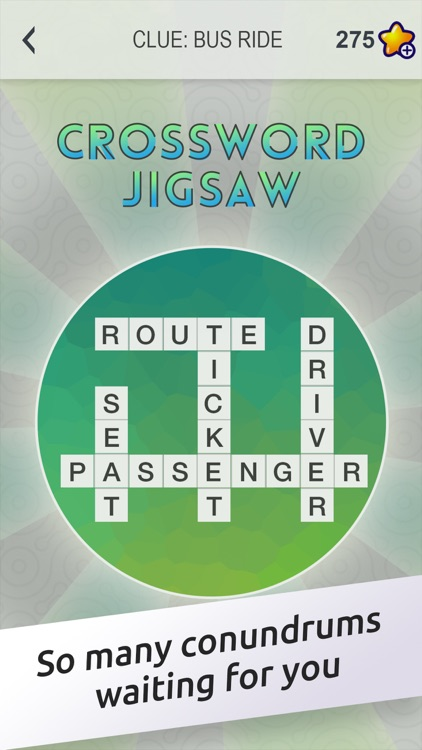 Crossword Jigsaw - Word Search and Brain Puzzle with Friends