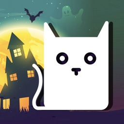 Halloween Cat: Ghosts & Pumpkins