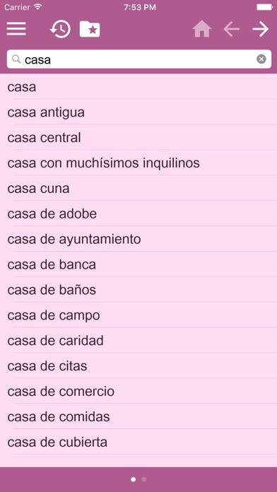 西班牙文 - 多種語言 字典屏幕截圖4
