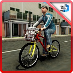 Newspaper Delivery Boy & bike ride game