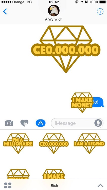 I'm Rich - Luxury Stickers