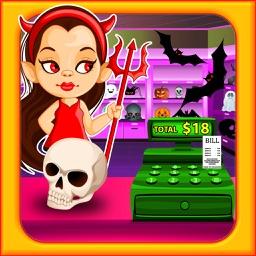 Halloween Supermarket Shopping- Store Cashier