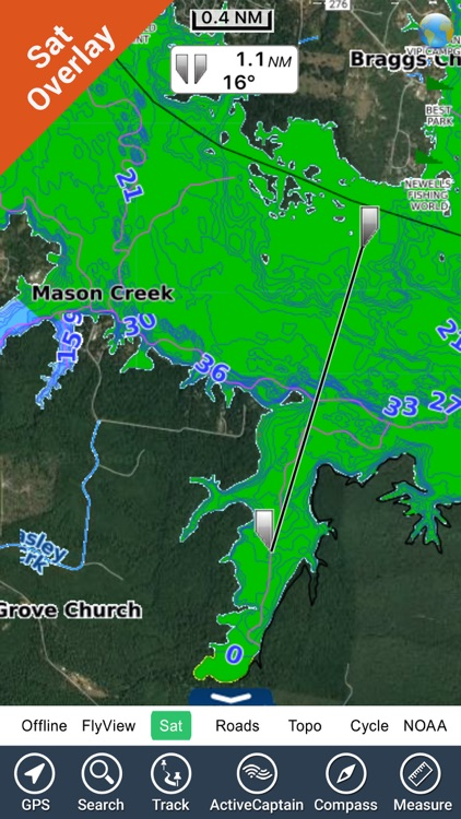 Toledo Bend Texas HD - GPS chart Navigator screenshot-0