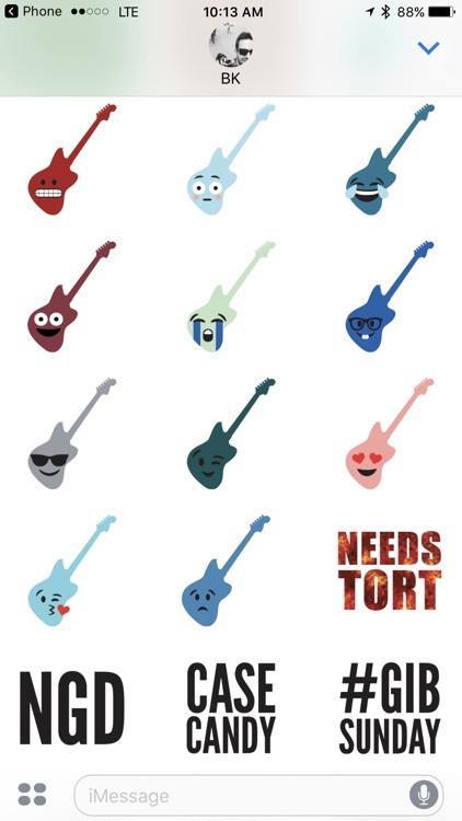 BK Guitars Sticker Pack