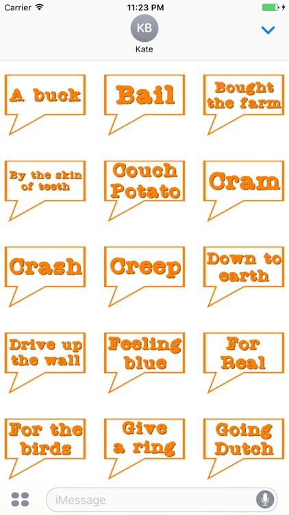 American Slang Stickers for iMessage