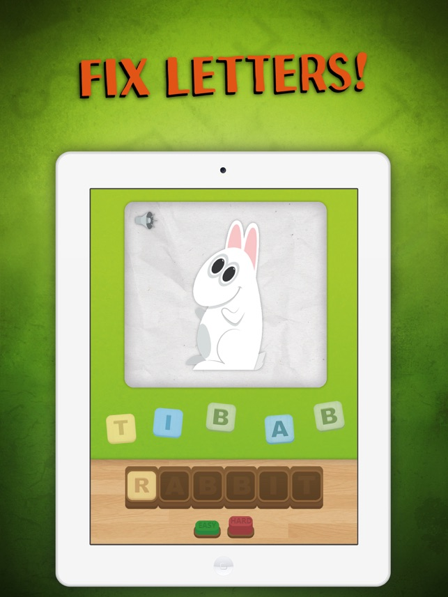 Kids Spelling App-Educational English Word Puzzle Game Lite 4+