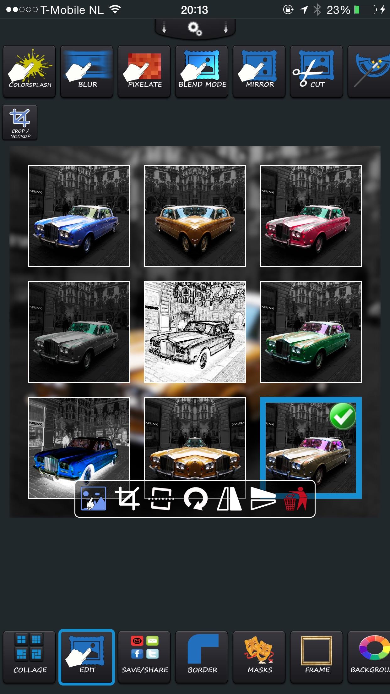 Screenshot do app PhotoPhix