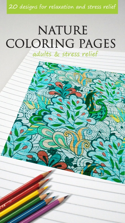 Nature Coloring Pages For Adults Amp Stress Relief By