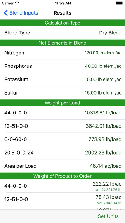 Fertilizer Blend Calculator