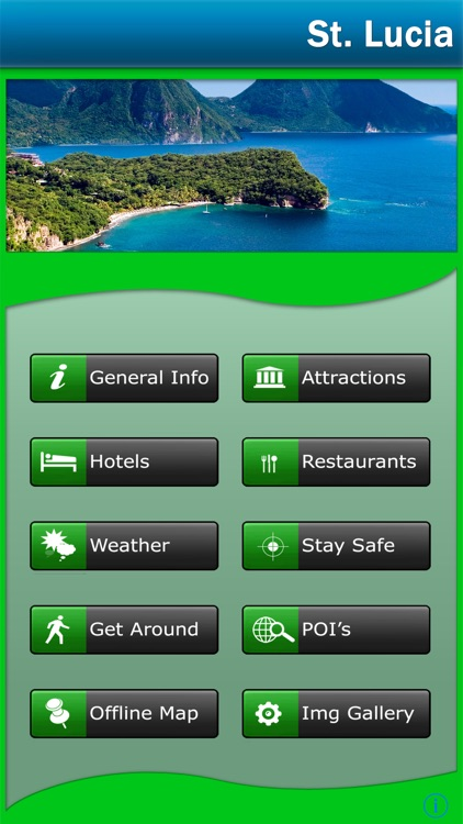 St. Lucia Offline Map Travel Guide