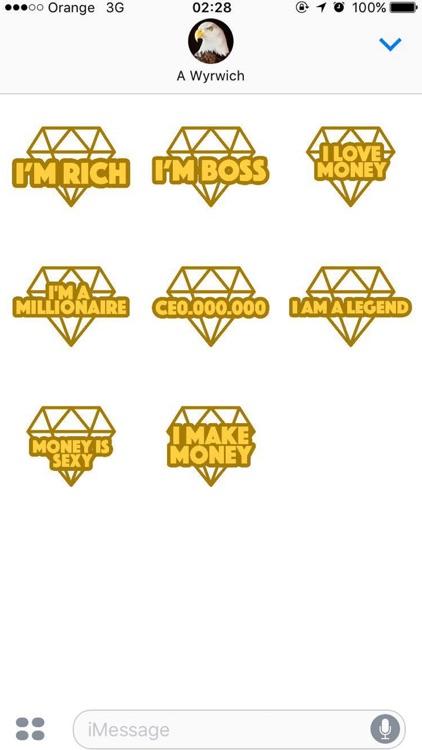 I'm Rich - Luxury Stickers screenshot-4