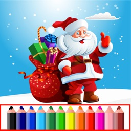 Christmas Color Pages Kids Game