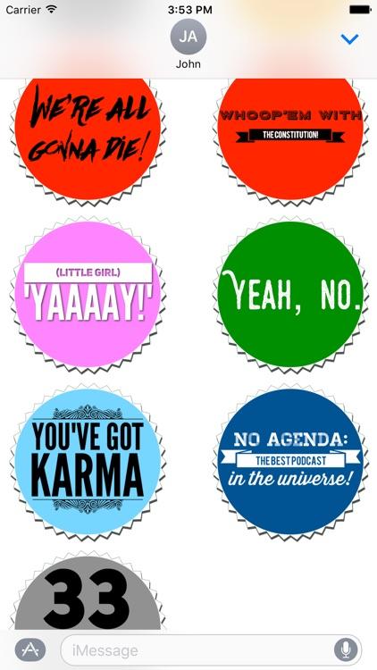 No Agenda Podcast Stickers screenshot-4
