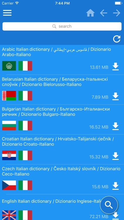 Italian Multilingual dictionary