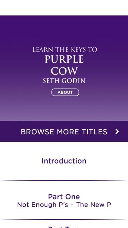 Meditation Audiobook for Purple Cow by Seth Godin