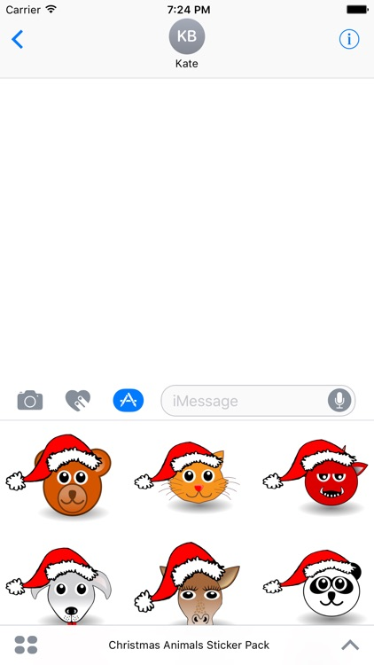 Christmas Animals Stickers Pack