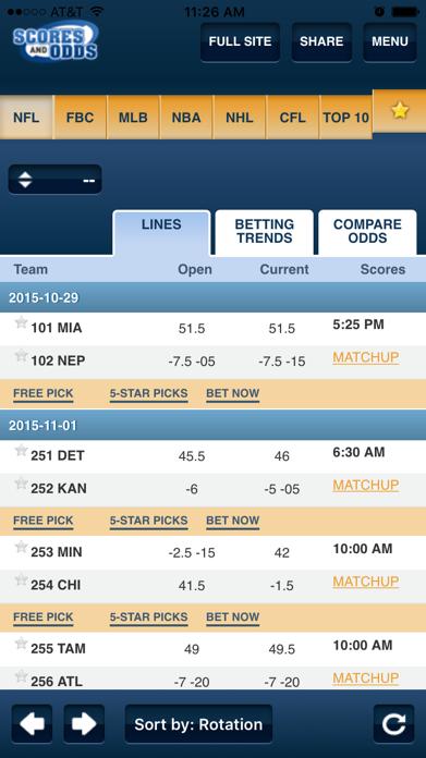 ScoresAndOdds Screenshot
