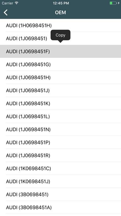 Car parts for Skoda - ETK, OEM screenshot-3