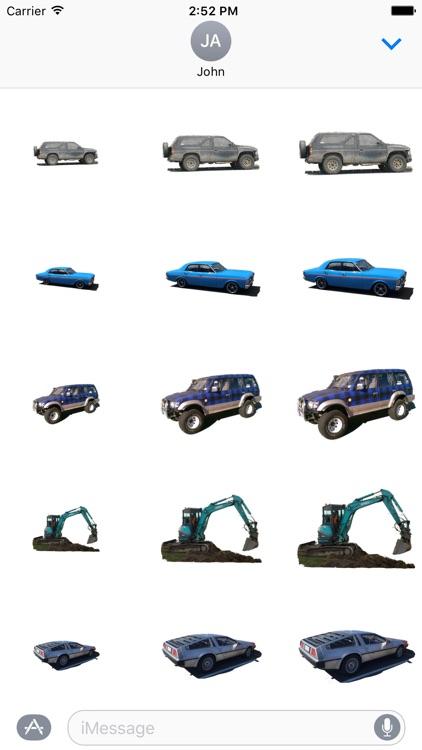 Car Truck Digger Stickers screenshot-4