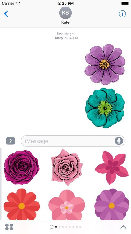 Flower Stickers Pack For iMessage