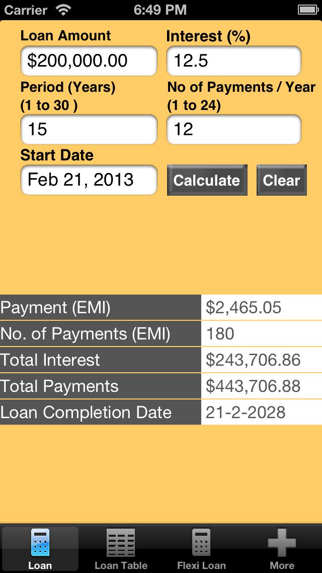Star Loan Calculator