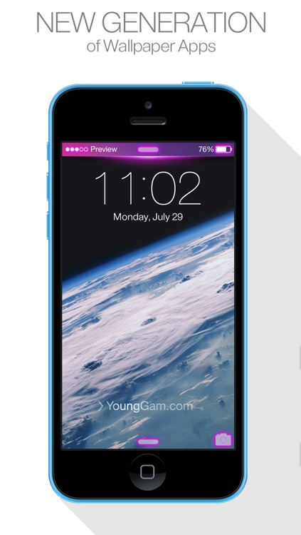 Status Bar Themes ( for iOS7 & Lock screen, iPhone ) New Wallpapers : by YoungGam.com screenshot-1