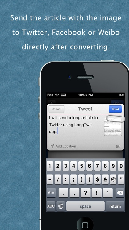 "LongTwit - ""Convert text to image for Twitter, Facebook & Weibo"""