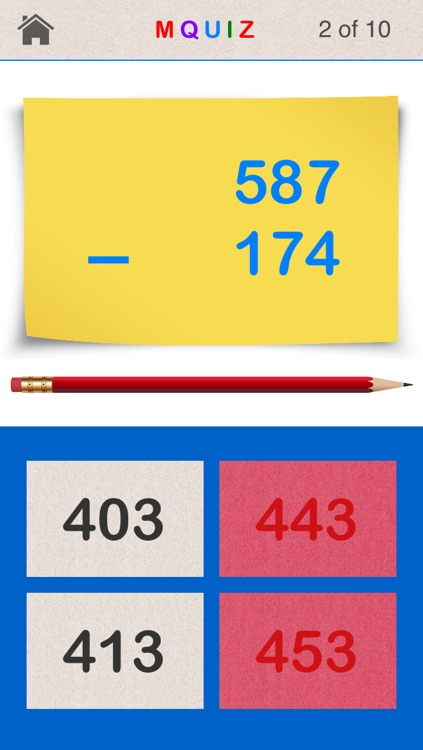 MQuiz Three-Digit Numbers Addition and Subtraction - Mental Math Quiz screenshot-3