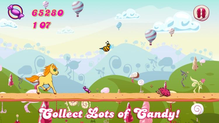 Candy Pony Run - Sweet Jumping Game Saga screenshot-4