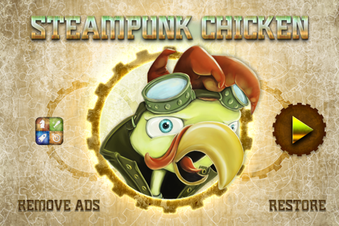 Steampunk Chicken - Free iPhone/iPad Racing Edition screenshot 1