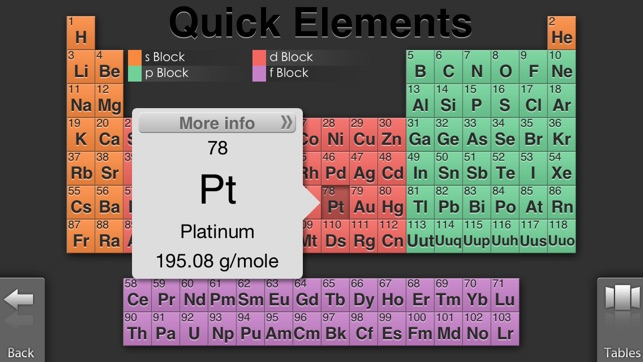 Quick periodic table of the elements on the app store iphone screenshots urtaz Gallery