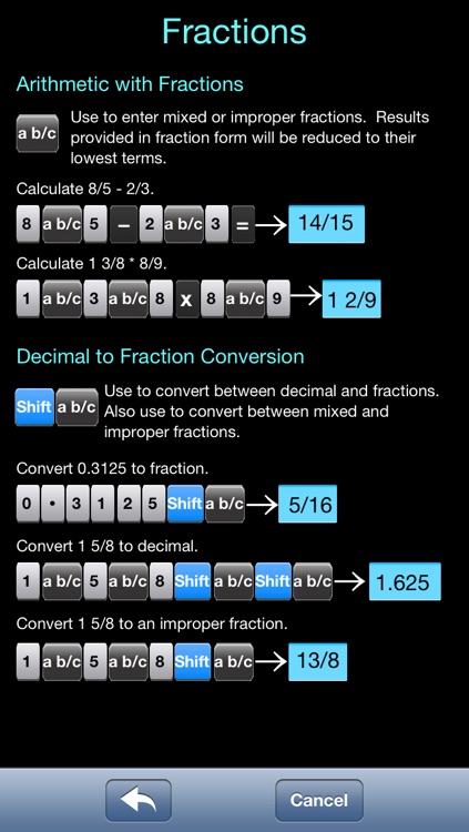 Scientific Calculator Elite - Advanced Fraction Calculator designed for Math and Science Students - Calc includes Unit Conversion, Constants, Fractions, Trigonometry, and Algebra Functions screenshot-3
