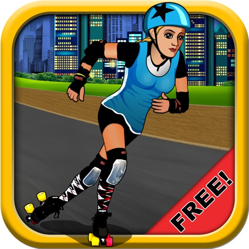 A Roller Derby Candy Dash - Free Downhill Racing Game