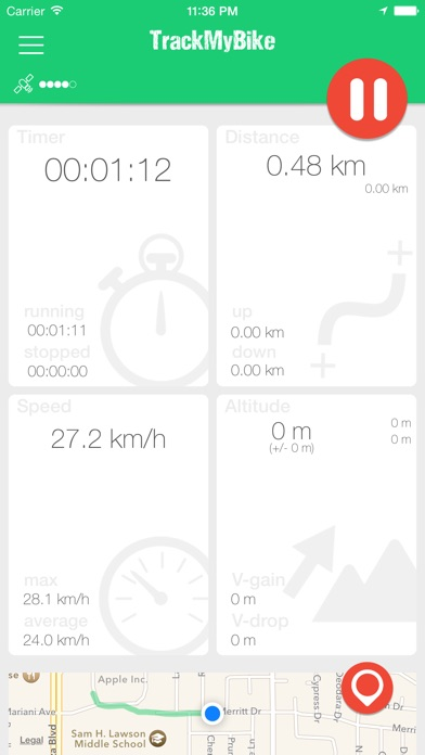 Screenshot for TrackMyBike in Chile App Store