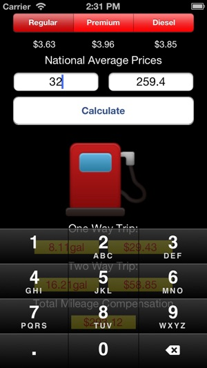 my gas mileage calculator on the app store