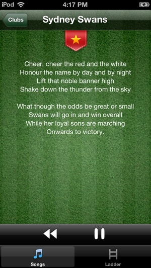AFL Club Song on the App Store