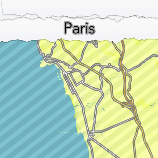 Paris City Map Offline Mapoff Por Matteo Morelli