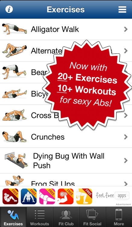Ab Workouts Free screenshot-0