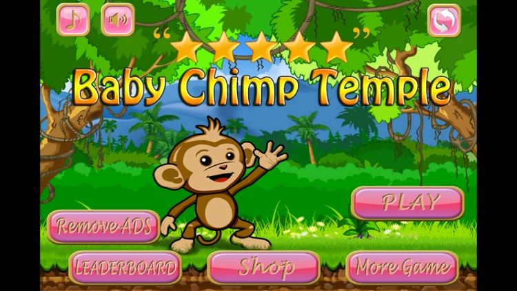 A Baby Chimp Temple - Crush and Run above Candy Snakes version 2
