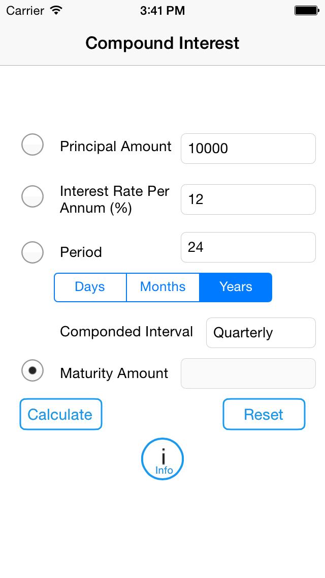 Compound Interest Calculator 2014 screenshot one