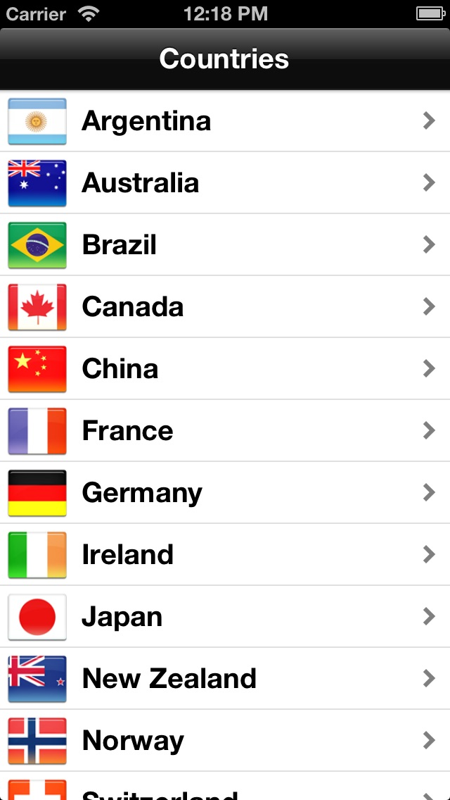 Tipping Abroad iPhone