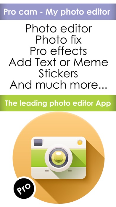 Pro cam - My photo editor plus space image effects , frames